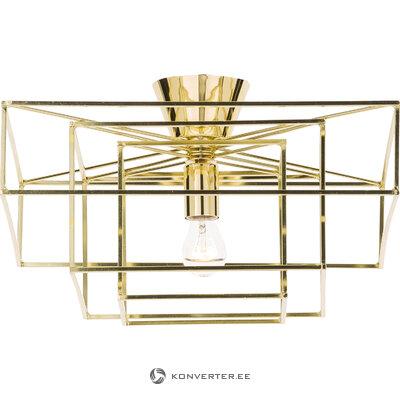 Золотой потолочный светильник-куб (глобен-освещение)