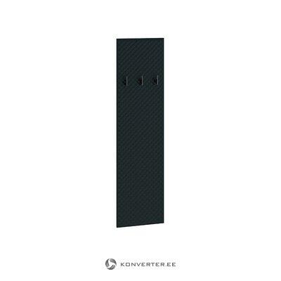 Juodoji drabužių pakaba (blizgi)