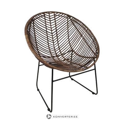 Rattan armchair cocon (henk schram)