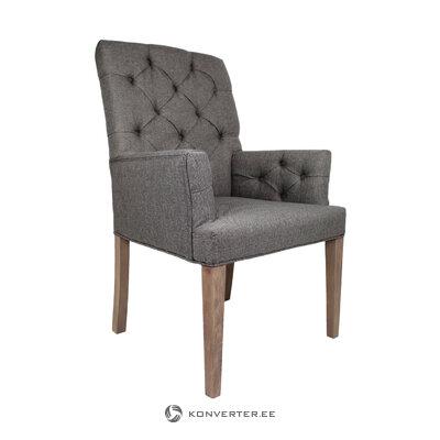 Harmaa-ruskea nojatuoli Lontoo (Henk Schram) (kauneusvirheellä salinäyte)