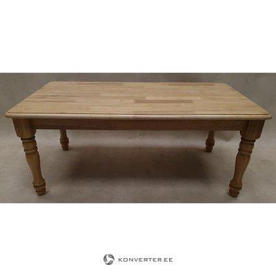 Light brown solid wood sofa table