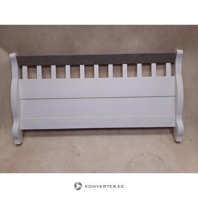 White-gray solid wood headboards