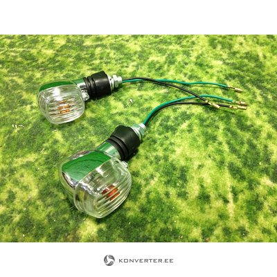 Smaller directional lights for the motorcycle, 2pcs included