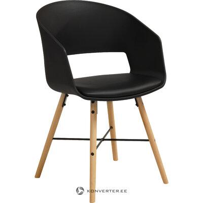 Черно-коричневый стул luna (interstil dänemark) (здоровый образец)