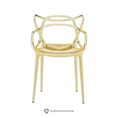 Golden design chair (cartel) (with beauty defects., Hall sample)