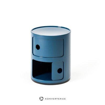 Sininen korkeakiiltoinen yöpöytä (kartelli) (koko, salinäyte)