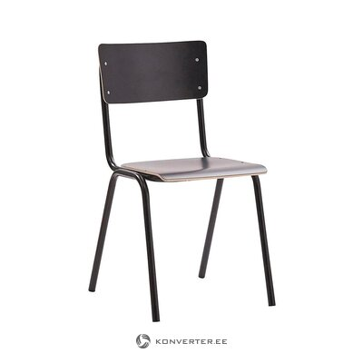 Gray-black chair (zanini) (hall sample, with a strong flaw)
