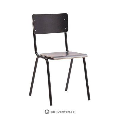 Серо-черный стул (занини) (целый, в коробке)