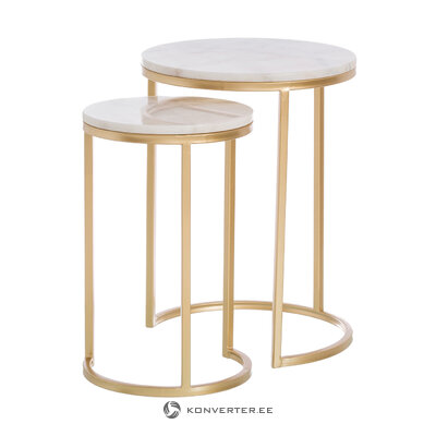 Sarja sohvapöytiä, joissa on kultainen kehys latta (ixia) (laatikossa, koko)