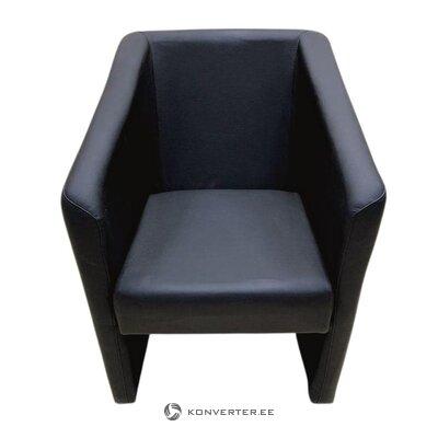 Melns ādas krēsls (neskarts zāles paraugs)