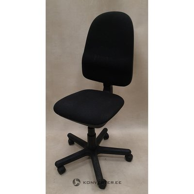 Black office chair without armrests