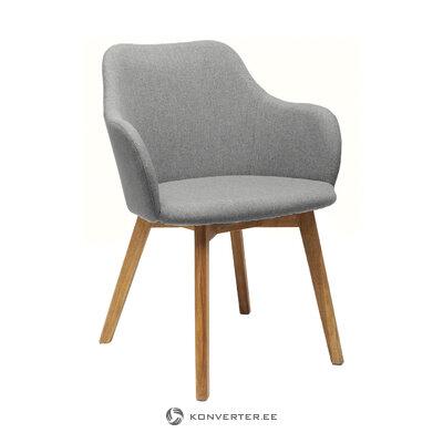Pelēkbrūna krēsla dāma (aptuvens dizains)