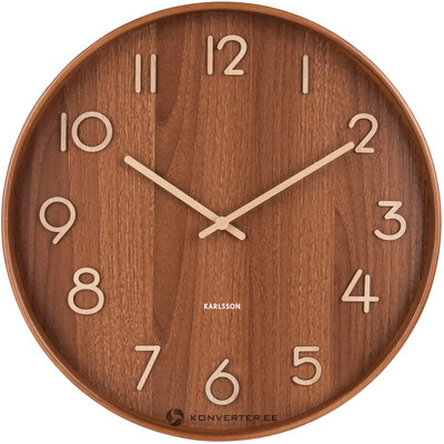 Часы настенные коричневые pure (karlsson)