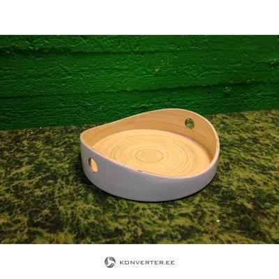 Valge puidust aluskandik Ekobo