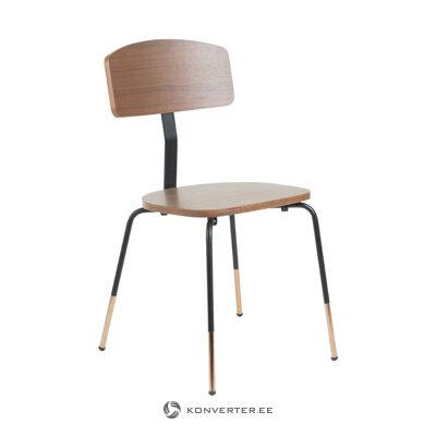 Brūns-melns krēsls Carola (la forma)