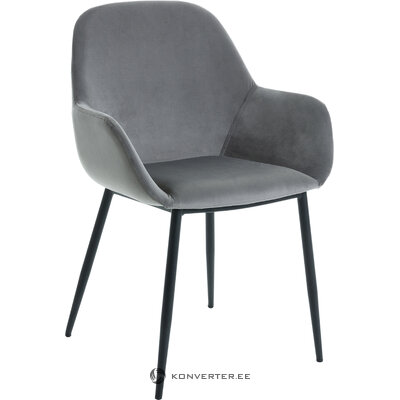Gray velvet chair kona (la forma) (whole, in box)