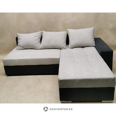 Серый антрацитовый диван-кровать (с дефектами красоты)