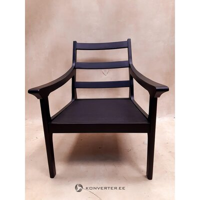 Black garden chair (with beauty defects., Hall sample)