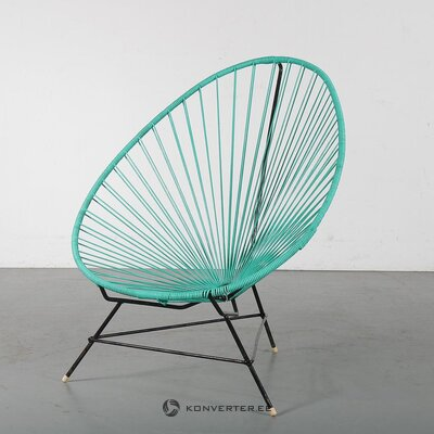 Green-black garden chair (acapulco) (with beauty defects., Hall sample)