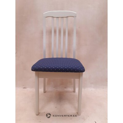 White-blue chair