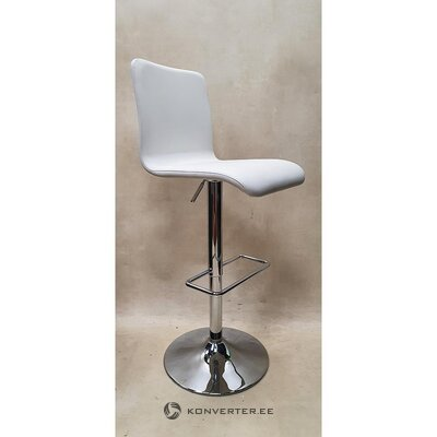 White leather bar stool (siena) (boconcept)