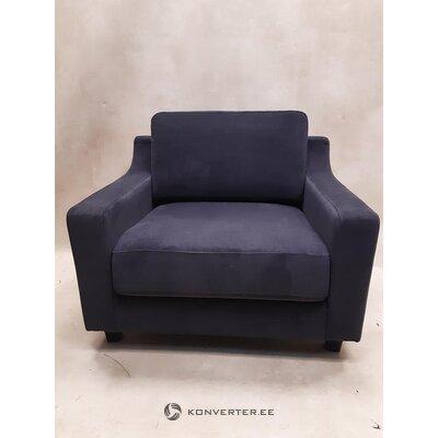 Tummanharmaa taitettava nojatuoli