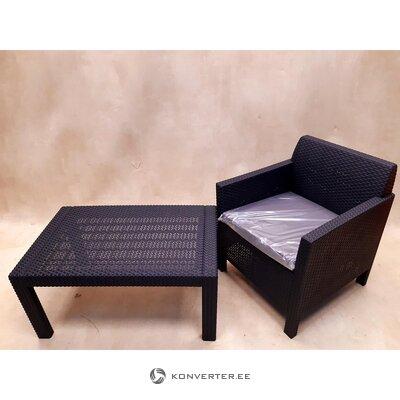 Комплект садовой мебели (марилист) (цельный, образец прихожей)