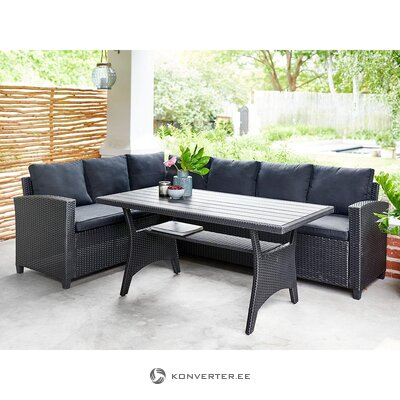 Black garden furniture set (outside) (whole, hall sample)