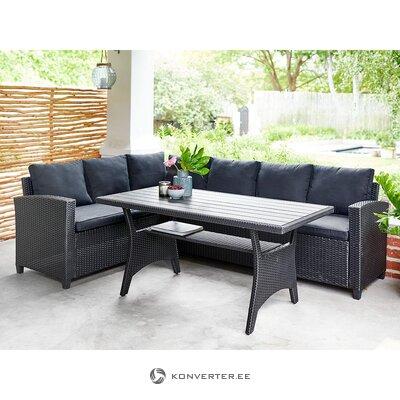 Juodų sodo baldų komplektas (išorėje) (visas, salės pavyzdys)