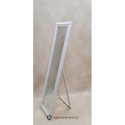 White floor mirror (cheval) (with beauty defects., Hall sample)