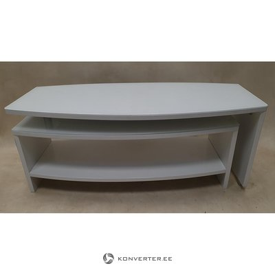 White expandable coffee table