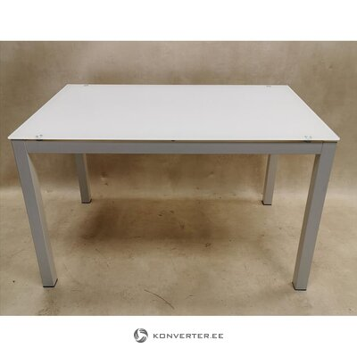 White dining table with metal frame (with beauty defects)