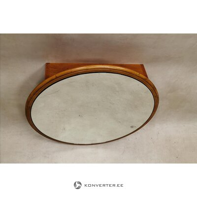 Brown solid wood mirror cabinet (whole, in box)