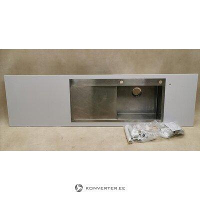 White stone kitchen countertop