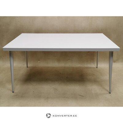 Valkoinen kiiltävä ruokapöytä (kokonainen, laatikossa)