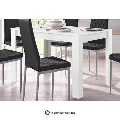 Balts pusdienu galds (lynn) (120x80)