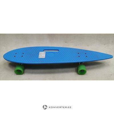 Blue plastic skateboard