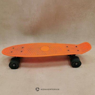 Orange plastic skateboard