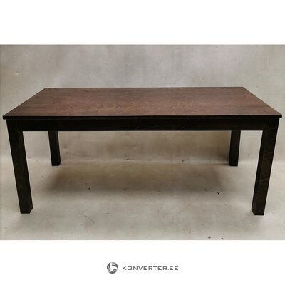Walnut brown solid wood dining table (wenla) (whole, sample)