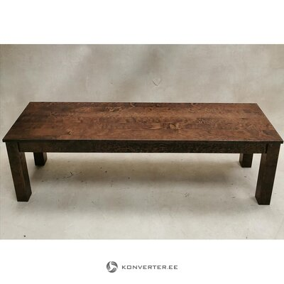 Walnut brown solid wood bench (wilma) (whole)