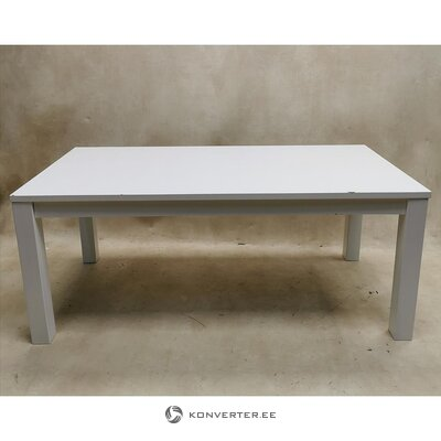 White dining table (180x90) (with beauty defects, hall sample)