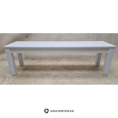 Balts masīvkoka soliņš (wilma) (viss zāles paraugs)