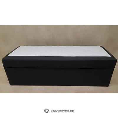 Mustavalkoinen sänky aloe vera-pesulaatikolla (200x80cm)