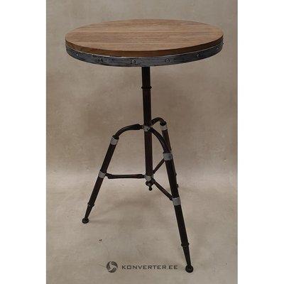 Коричневый круглый барный стол