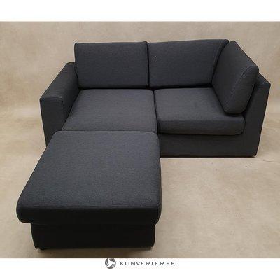 Gray small corner sofa