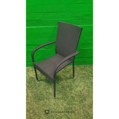 Black wicker garden chair (with defects., Hall sample)