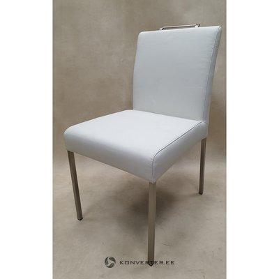 Белое кожаное кресло (коллекция fl)