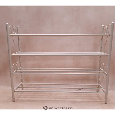 Beige metal shelf (with defects., Hall sample)