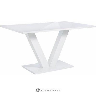 Liels, ļoti spīdīgs pusdienu galds (ar Beauty Bug)