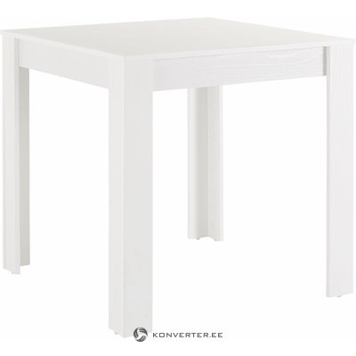 White square dining table